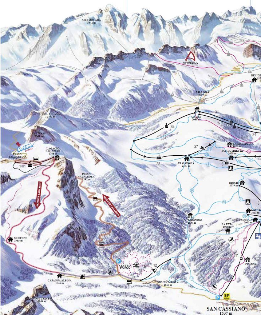 Lazaguoi Ski Map