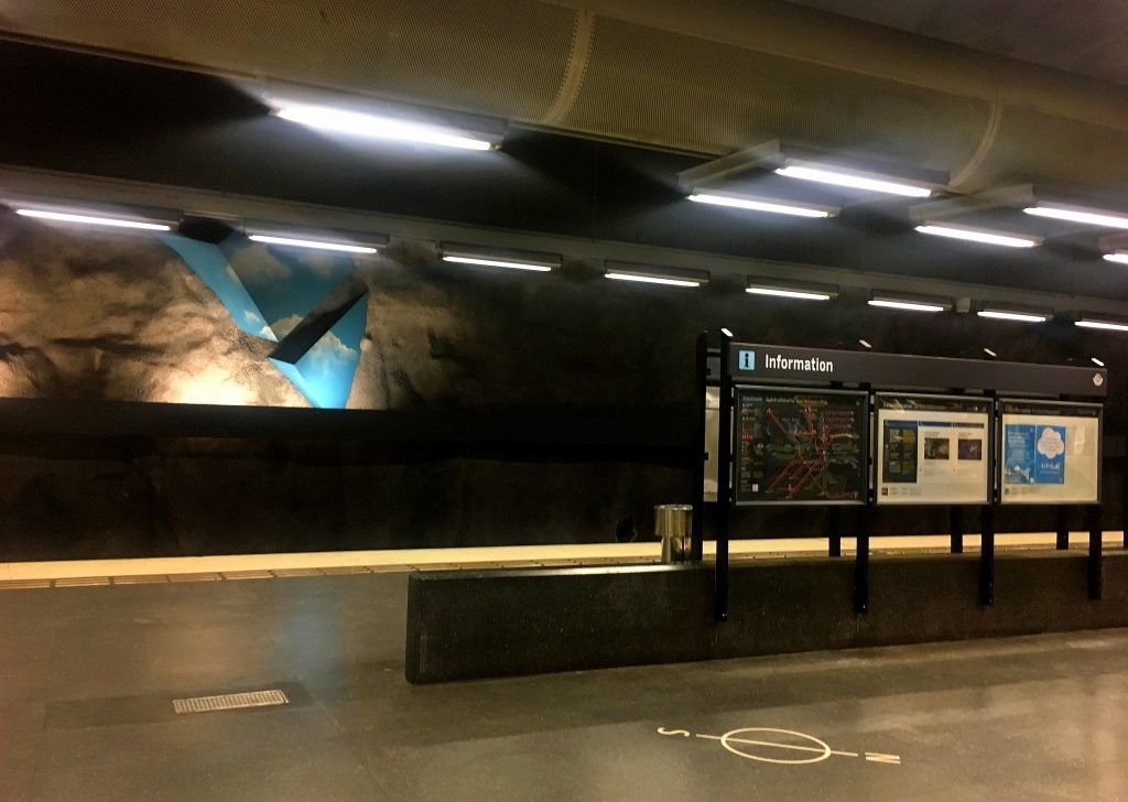 Solna Strand, Metropolitana di Stoccolma