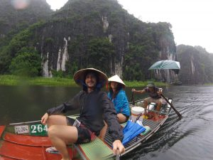 Sul Sampan a Tam Coc, Ninh Binh