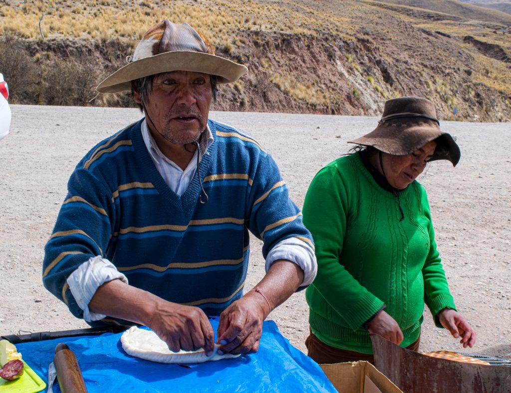 Tortillas nella Cuesta del Obispo, Ande argentine