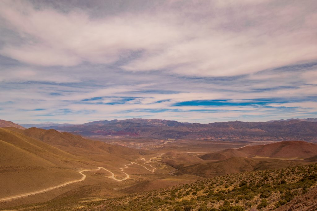 Strada per il Cerro de Los Quatorse Colores, Humahuaca