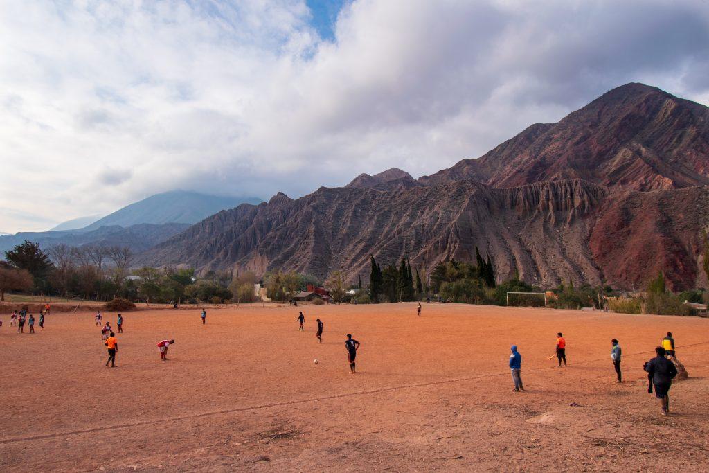 Partita di calcio a Purmamarca