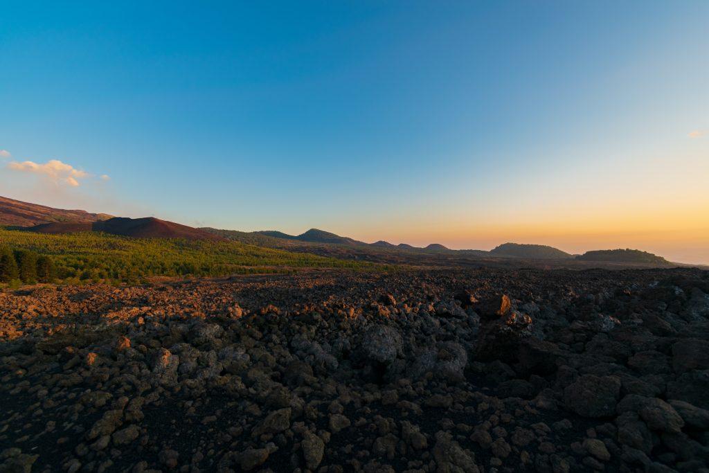 Tramonto sull'Etna - Grande Traversata Etnea