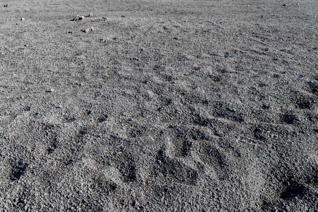 Un paesaggio lunare, l'Etna