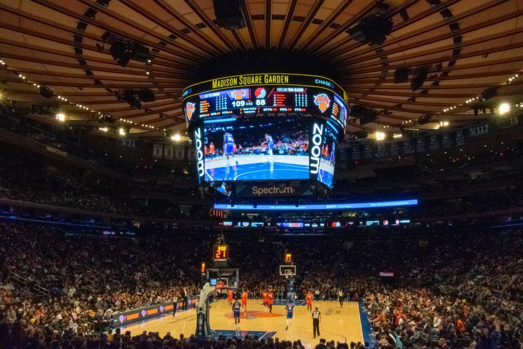 Partita di NBA, Madison Square Garden, New York