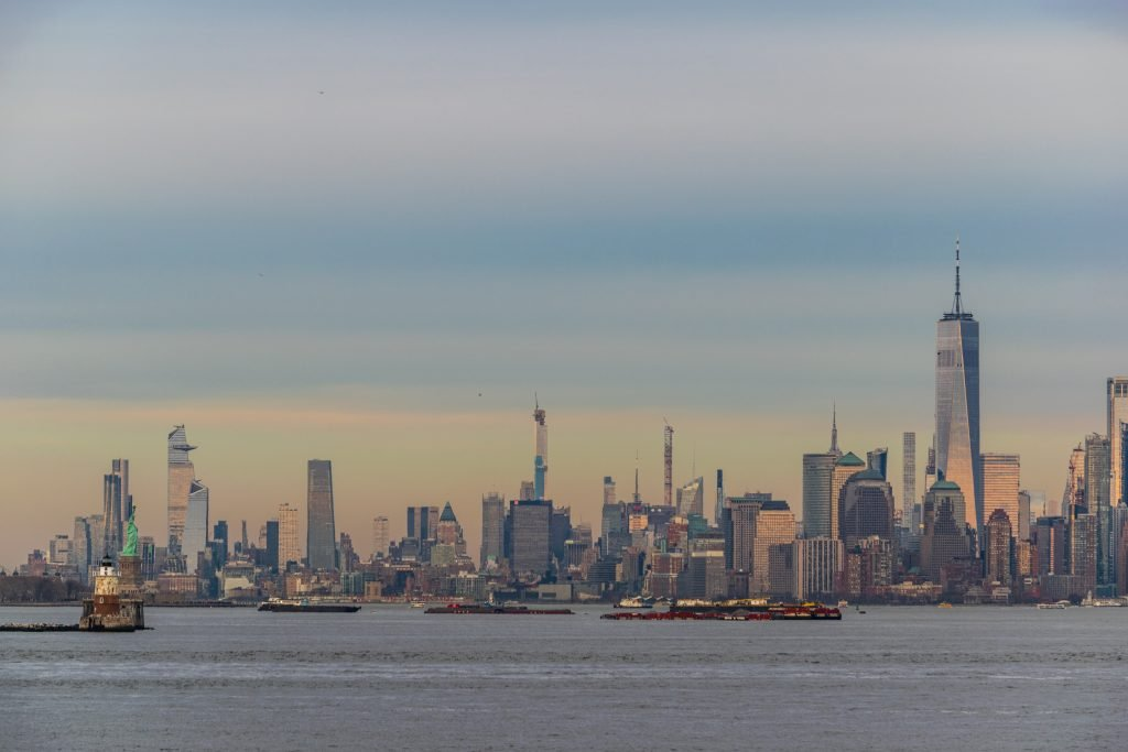 Lower Manhattan dal Staten Island Ferry