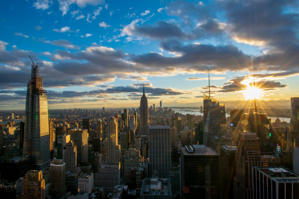 Panorama dal Top of the Rock, New York